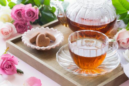 Rose scented tea time