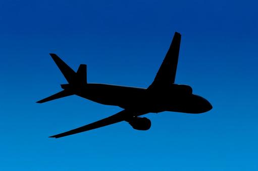 Airplane 37 Jet Rear Silhouette Background Transparent PSD