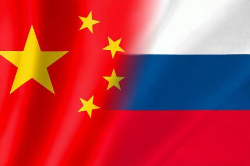 中國俄羅斯國旗1簡單