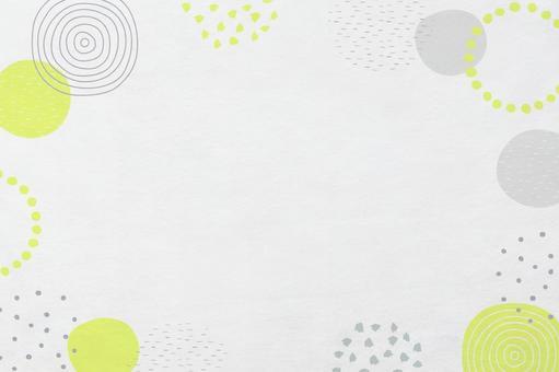 帶圓形圖案的日本紙紋理_帶現代日本圖案的框架背景材料