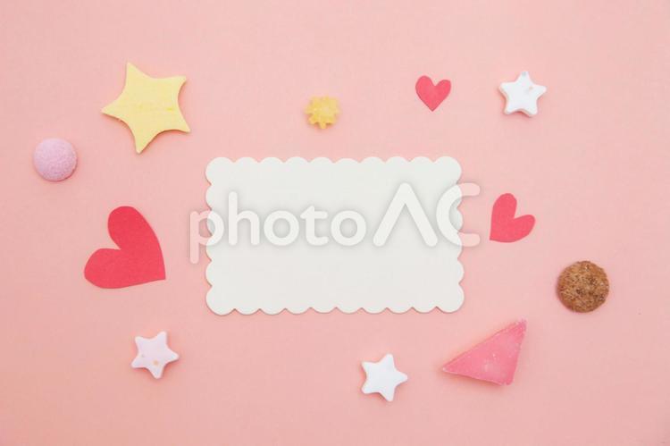 白紙のメッセージカードの写真