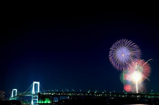 Fireworks and Rainbow Bridge