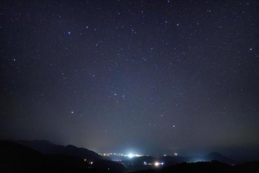 센다이 고개에서 바라 보는 밤하늘