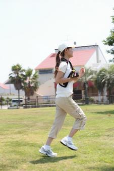 Female running 1