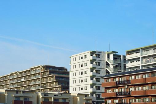 Blue sky and housing