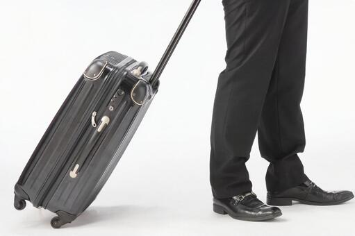 Businessman and carry case