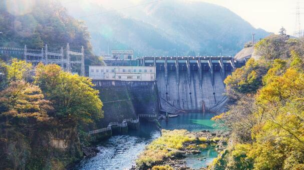 쇼가와 협곡의 오하라 댐