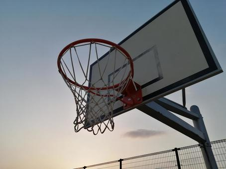 Basket goal sunset sky