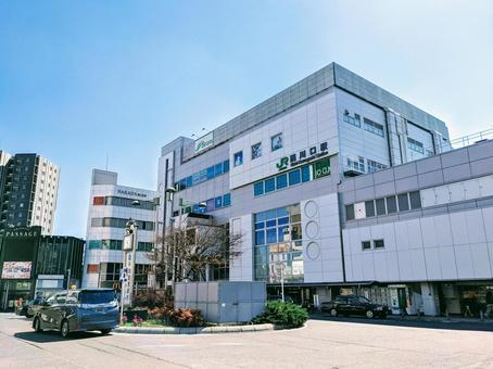 JR 게이 힌 도호쿠 선 니시카와 구치 역 동쪽 출구