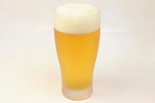 Glass beer summer white background draft beer