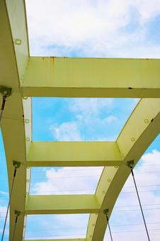 Blue sky over the overpass