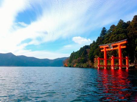 Lake Ashi in autumn 2