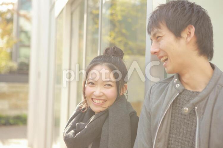 デート中のカップル17の写真