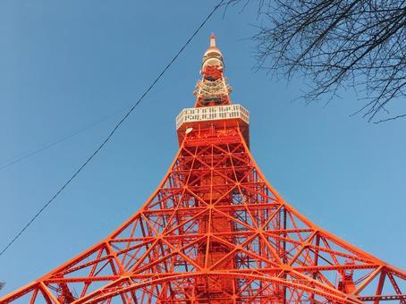 東京鐵塔在中午