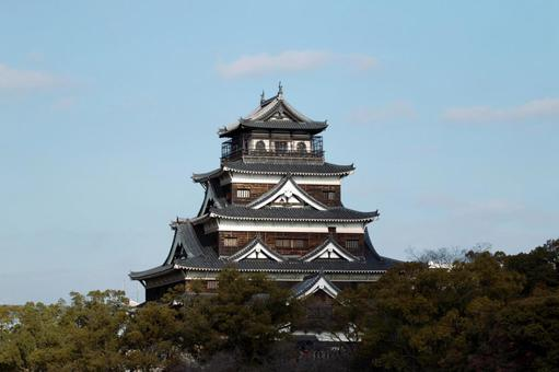 Hiroshima Castle 【sideways】