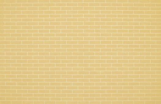 Ocher brick tiles | Free background material for cute brick walls