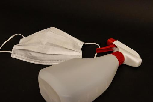 [Mask] Non-woven mask and alcohol disinfection image [Infection prevention]
