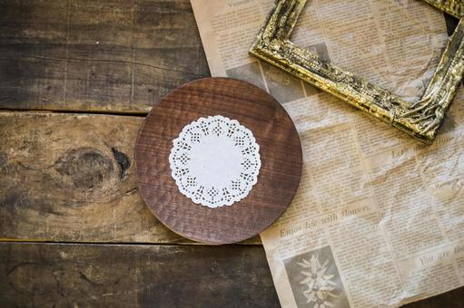 Background material such as wooden plates