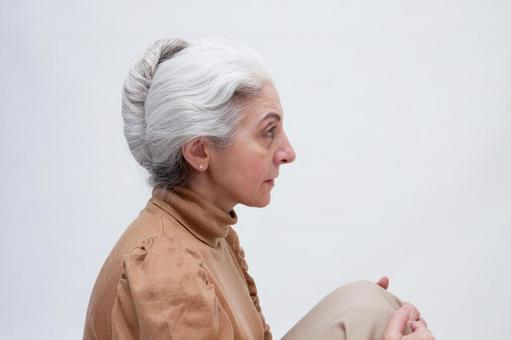 Senior female sitting 3