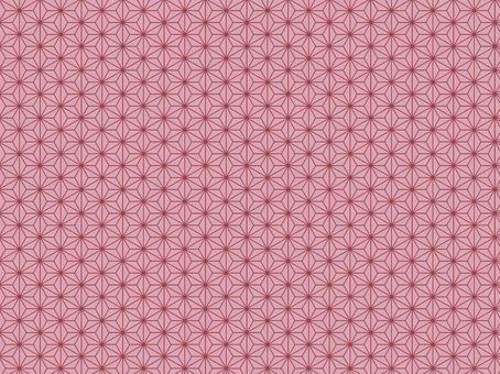 Japanese paper style material with a luxurious hemp leaf pattern / Japanese style / Celebration / New Year / Gradation / Foil stamping style / Material Texture / Wallpaper / Image / Pink / Pink