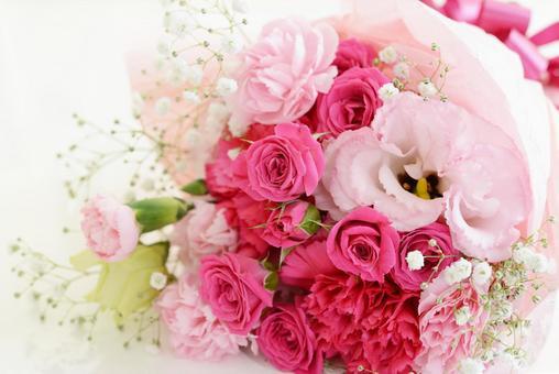 美麗的花束粉紅色