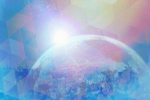 Earth and digital image background material