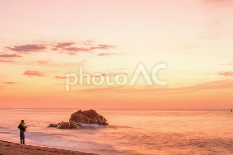 伊良湖!恋路ヶ浜の日の出の写真