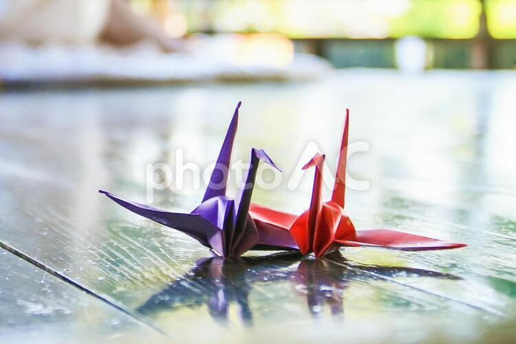 折り鶴 夫婦の写真