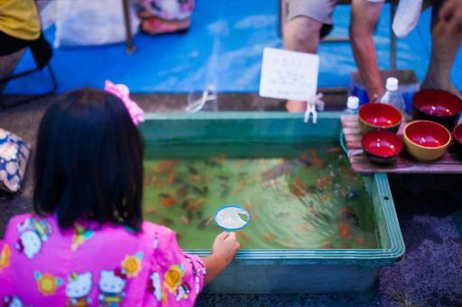 Summer festival goldfish scoop