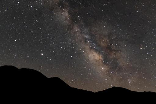 The rising Milky Way