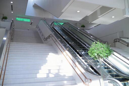 中午的樓梯和自動扶梯
