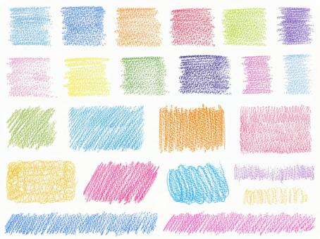 Color pencil texture set