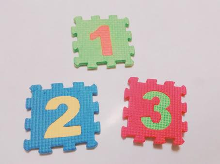 Numbers 1, 2 and 3 ②