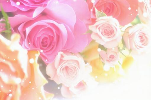 Bouquet of sparkling roses 1