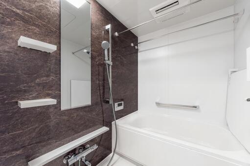 신축 분양 맨션의 깨끗한 욕실