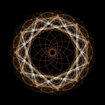 Circle Shape Art 078 Yellow