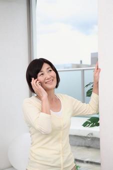 Senior female speaking on mobile phone 3