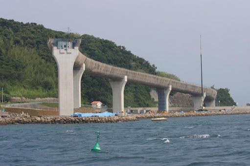 State of Iojima Ohashi bridge construction in Nagasaki Prefecture