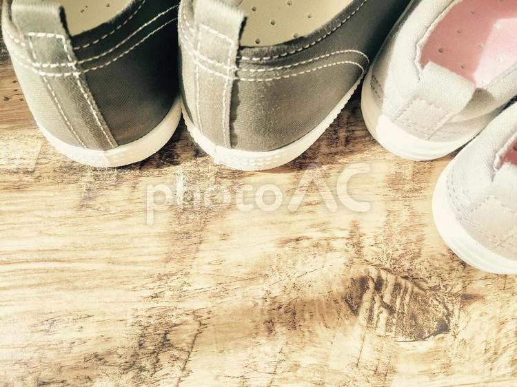 親子の靴の写真