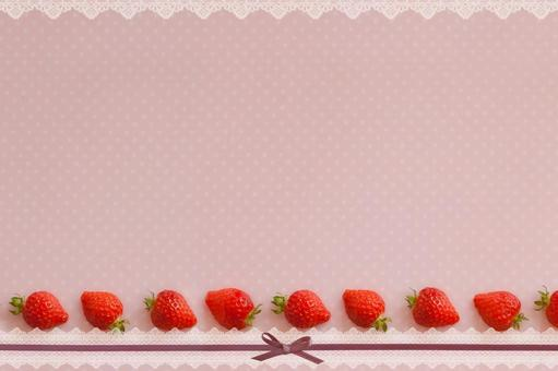 Strawberry and race background