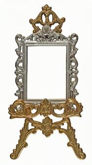 Antique Gold and Silver Frame & Easel 2 (with clipping pass)