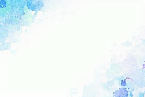 Blue watercolor style background material texture white blue frame