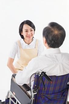 Nurse and wheelchair male 17