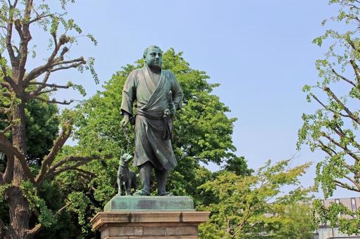 Ueno Park Saigo Takamori Statue 2