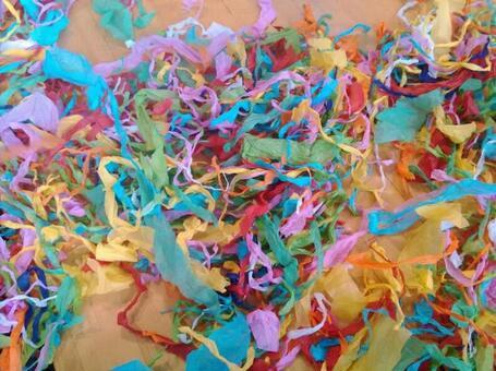 Multicolored paper