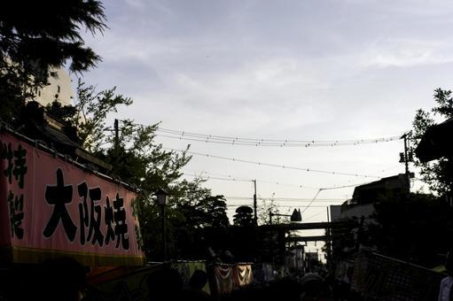 Summer festival stalls
