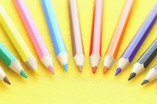 Colorful colored pencils Colored pencils Image material