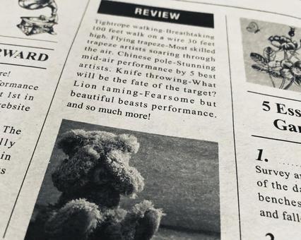 English newspaper teddy bear