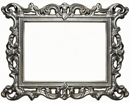 Antique silver frame side (with cutout pass)