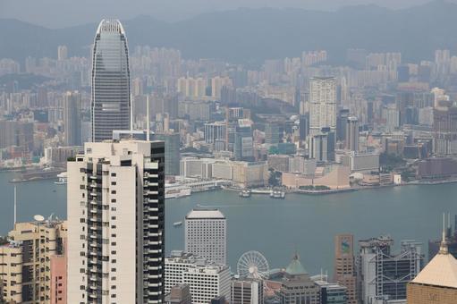 홍콩 거리 금융가